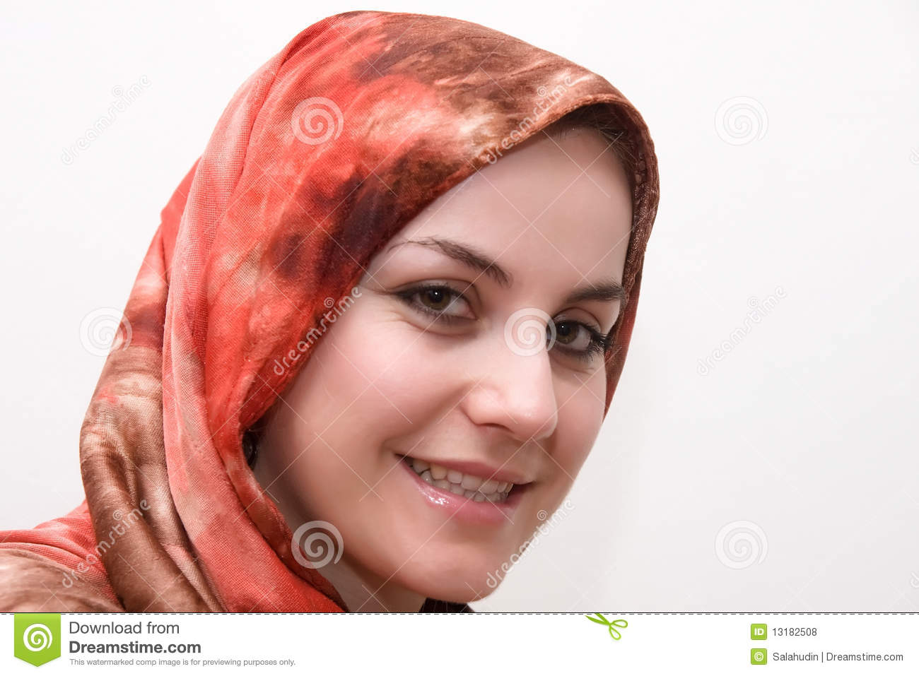 Muslim Beauty Woman Stock Photo. Image Of White, Young