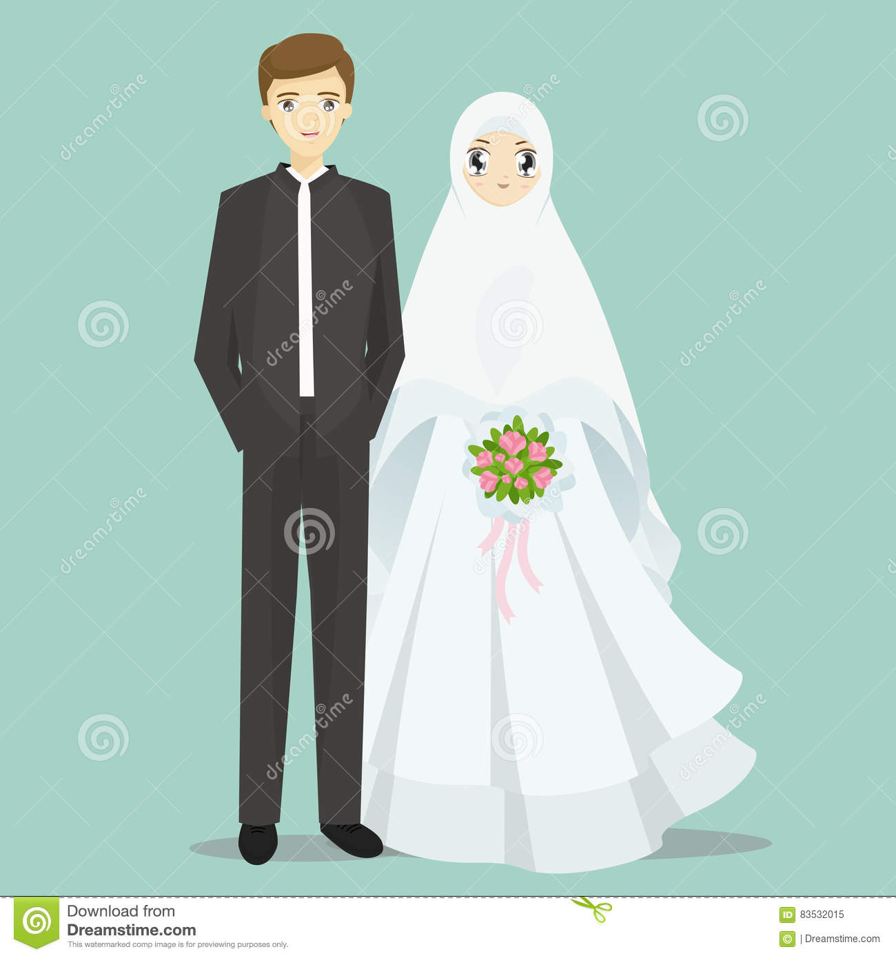 Muslim Bride Groom Stock Illustrations – 43 Muslim Bride Groom Stock ...
