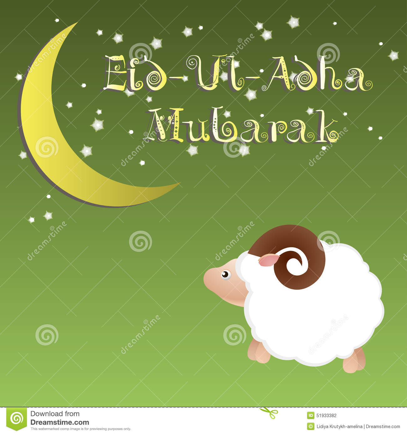 Muslim community festival of sacrifice eid ul adha greeting card muslim community festival of sacrifice eid ul adha greeting card background with sheep moon and stars kristyandbryce Choice Image