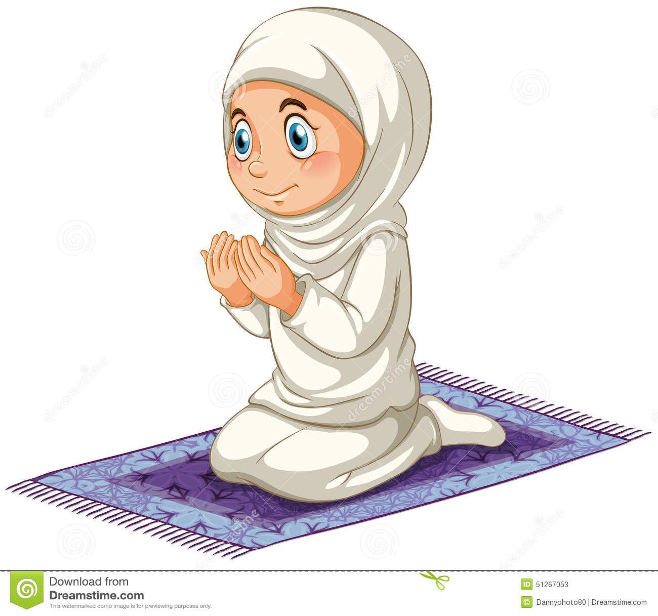 Muslim Stock Vector Illustration Of Clipart Praying