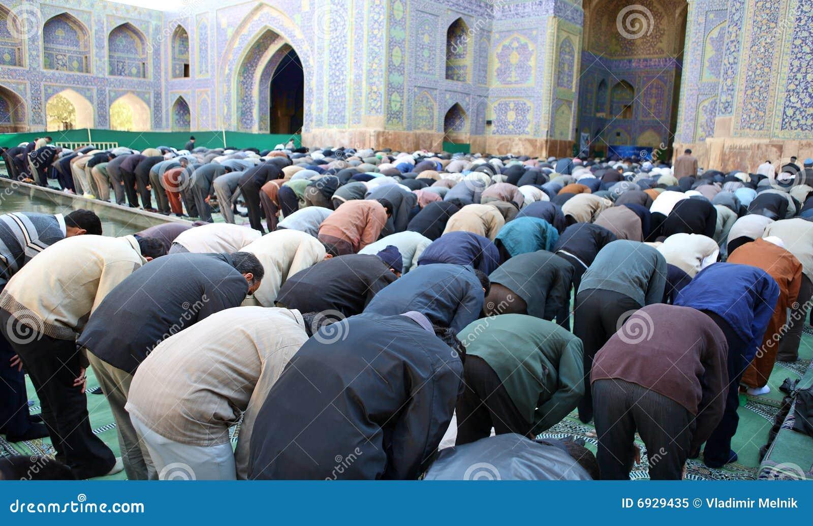 Muslim Friday mass prayer