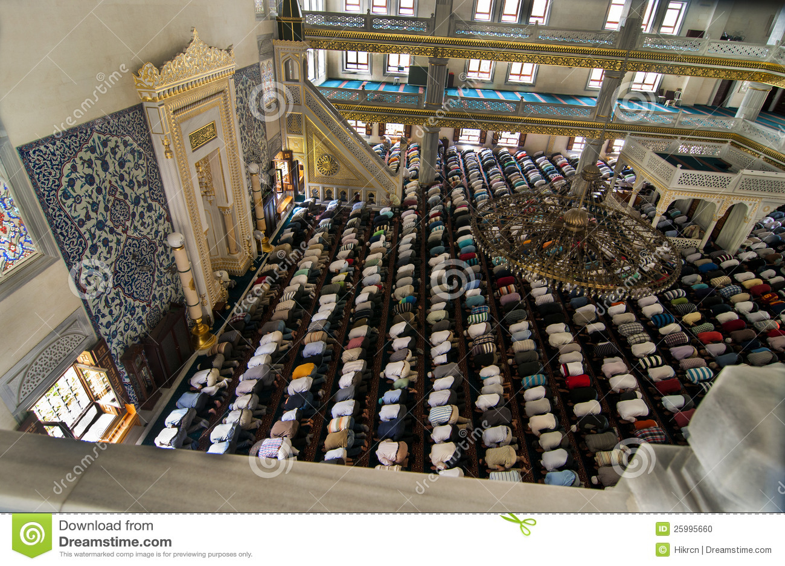 Muslim Friday Prayer Tunahan Mosque Turkey Editorial Image