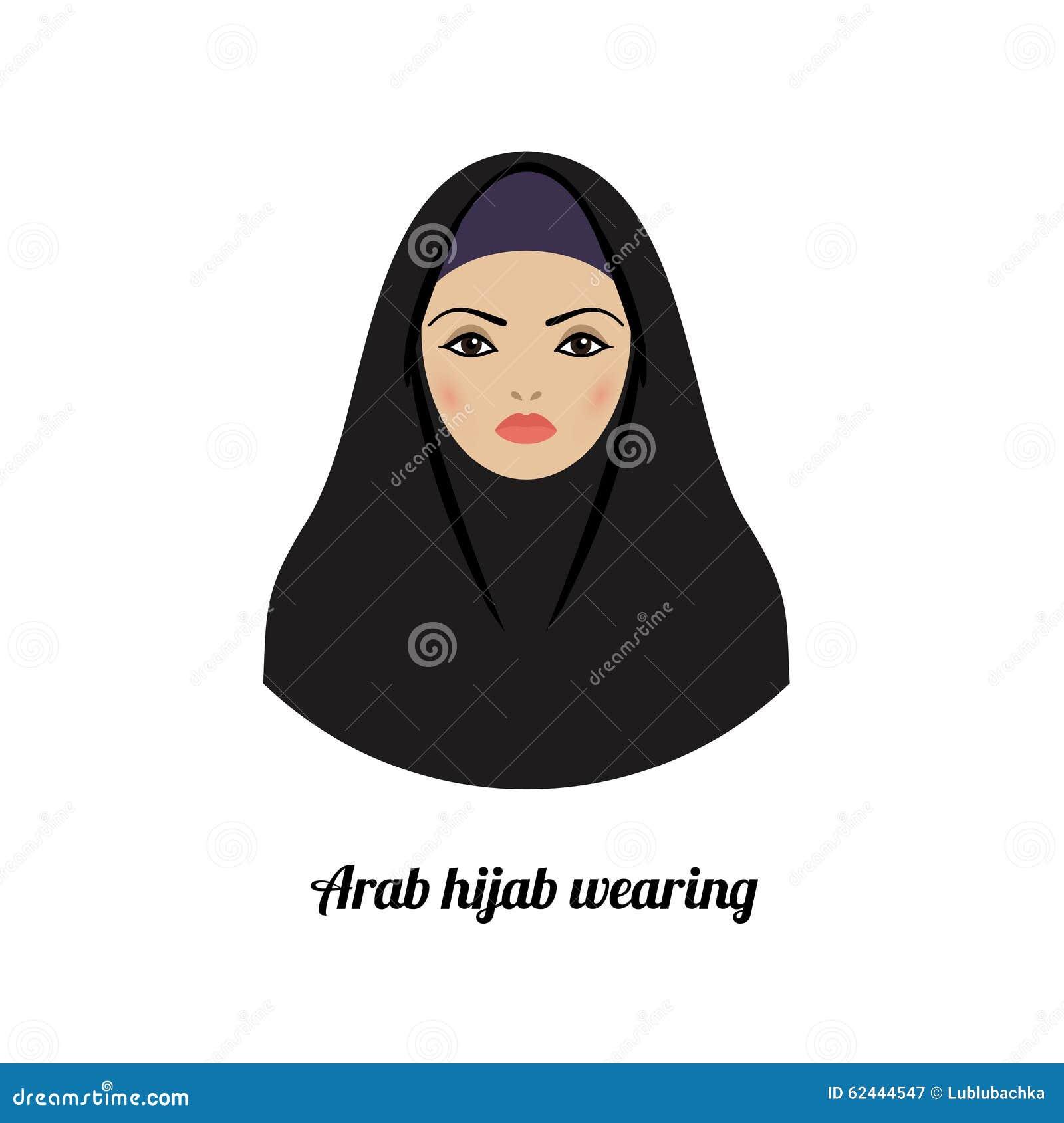 Muslim Girl Avatar Asian Muslim Traditional Hijab Wearing Stock Photo - Image 62444547-1047