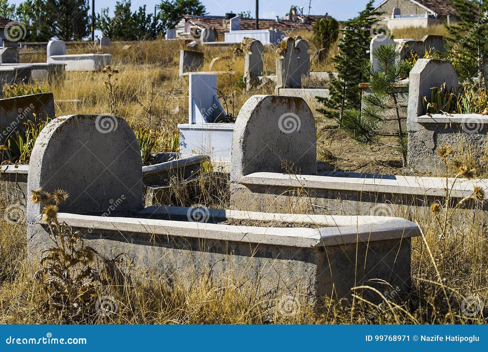 Muslim Graveyard, Graveyard Paintings, Tombstones And The
