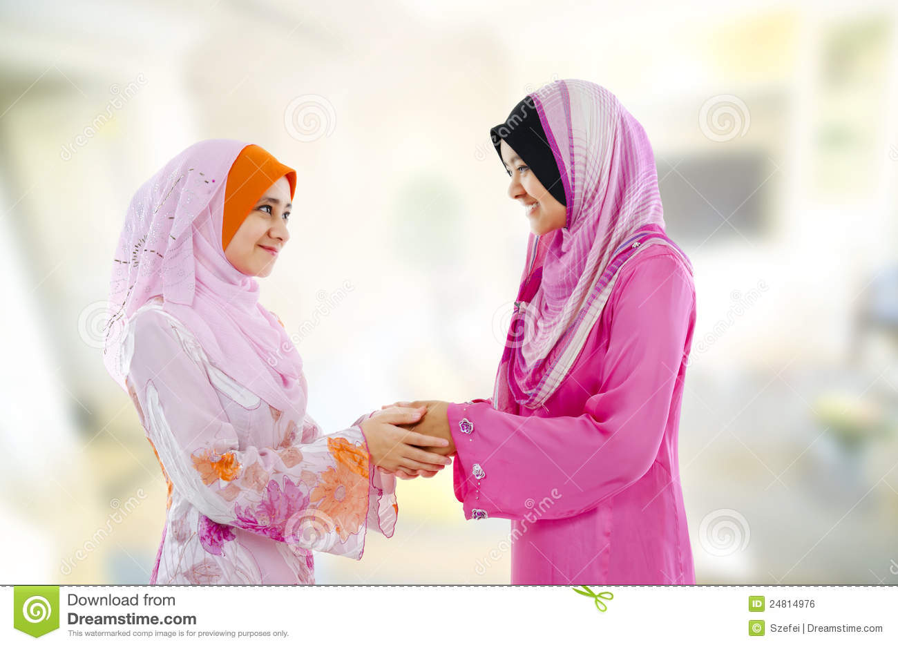 Muslim Greeting Royalty Free Stock Image - Image: 24814976