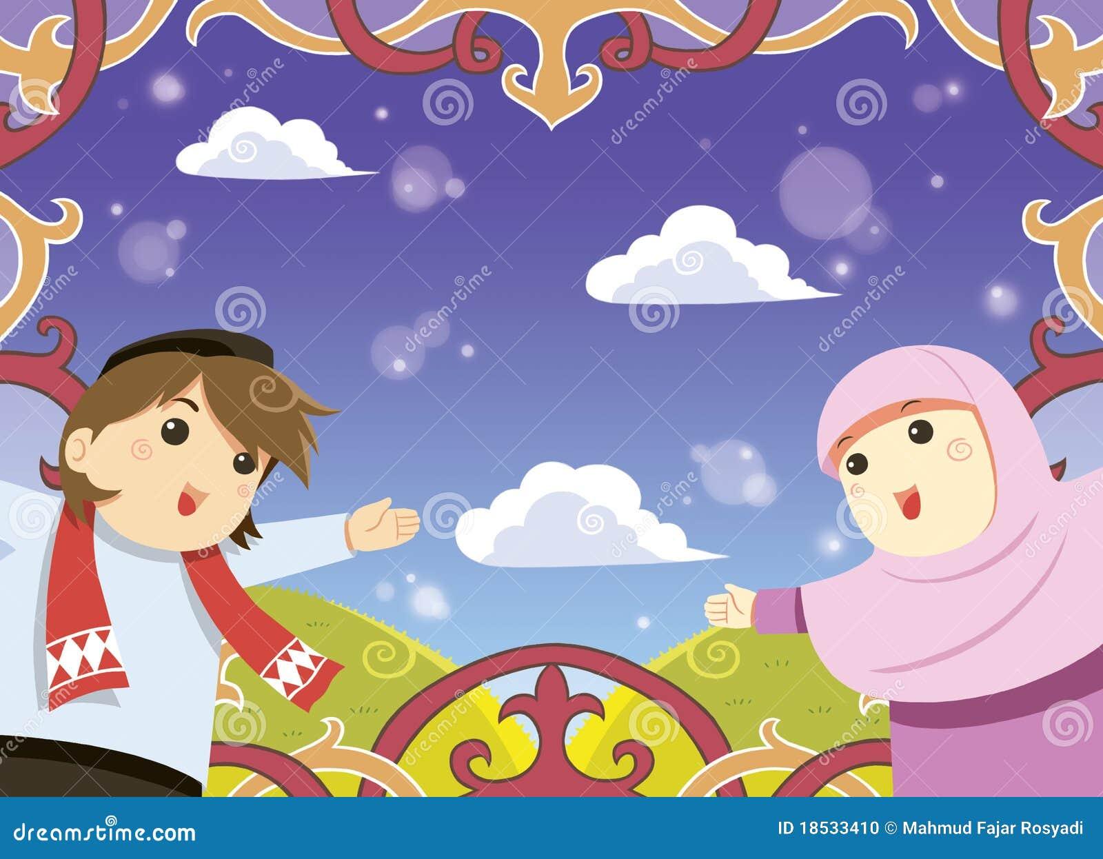 Muslim greeting card stock illustration illustration of happy muslim greeting card m4hsunfo