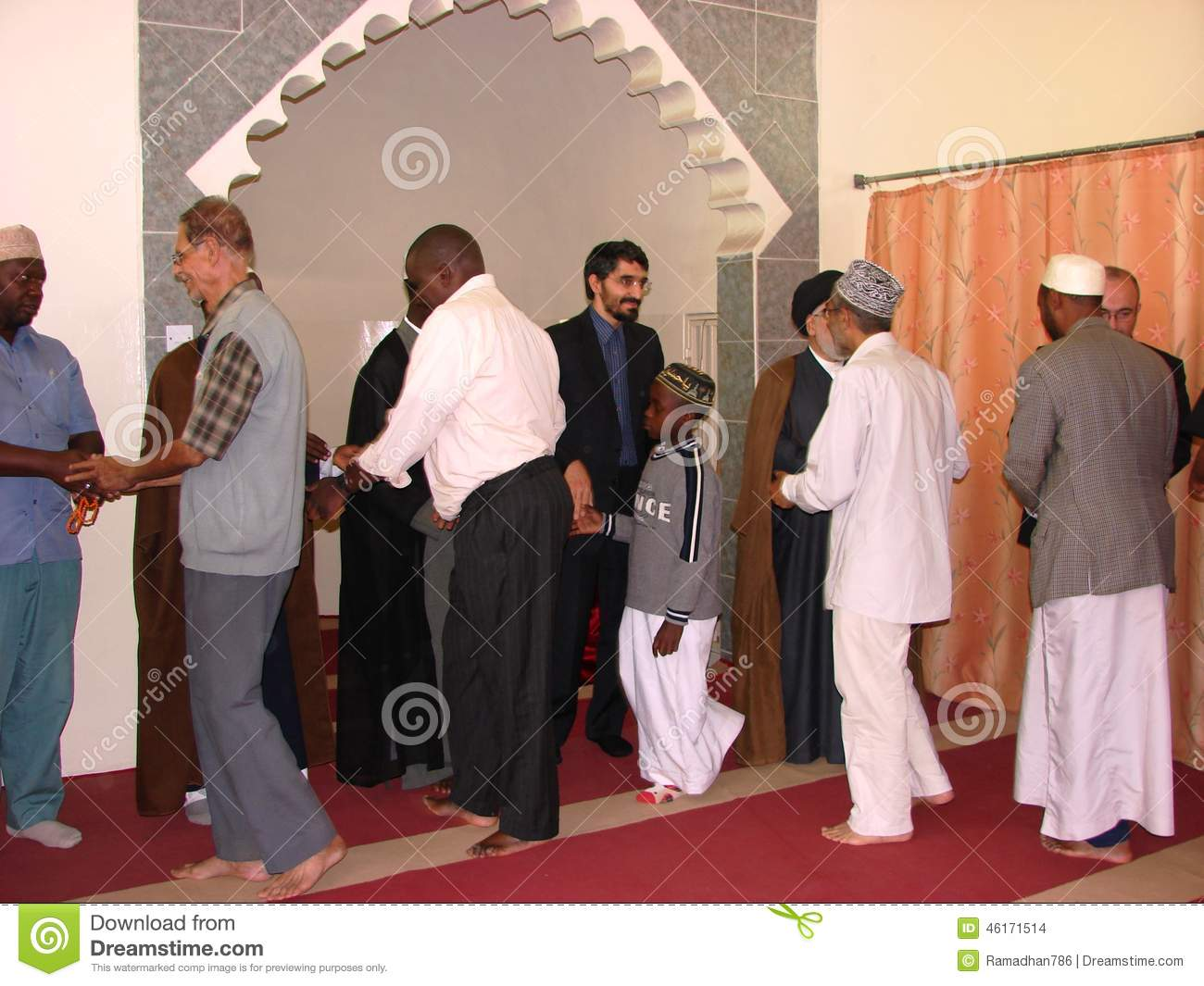 Muslim Greetings In African Mosque Editorial Stock Image Image Of