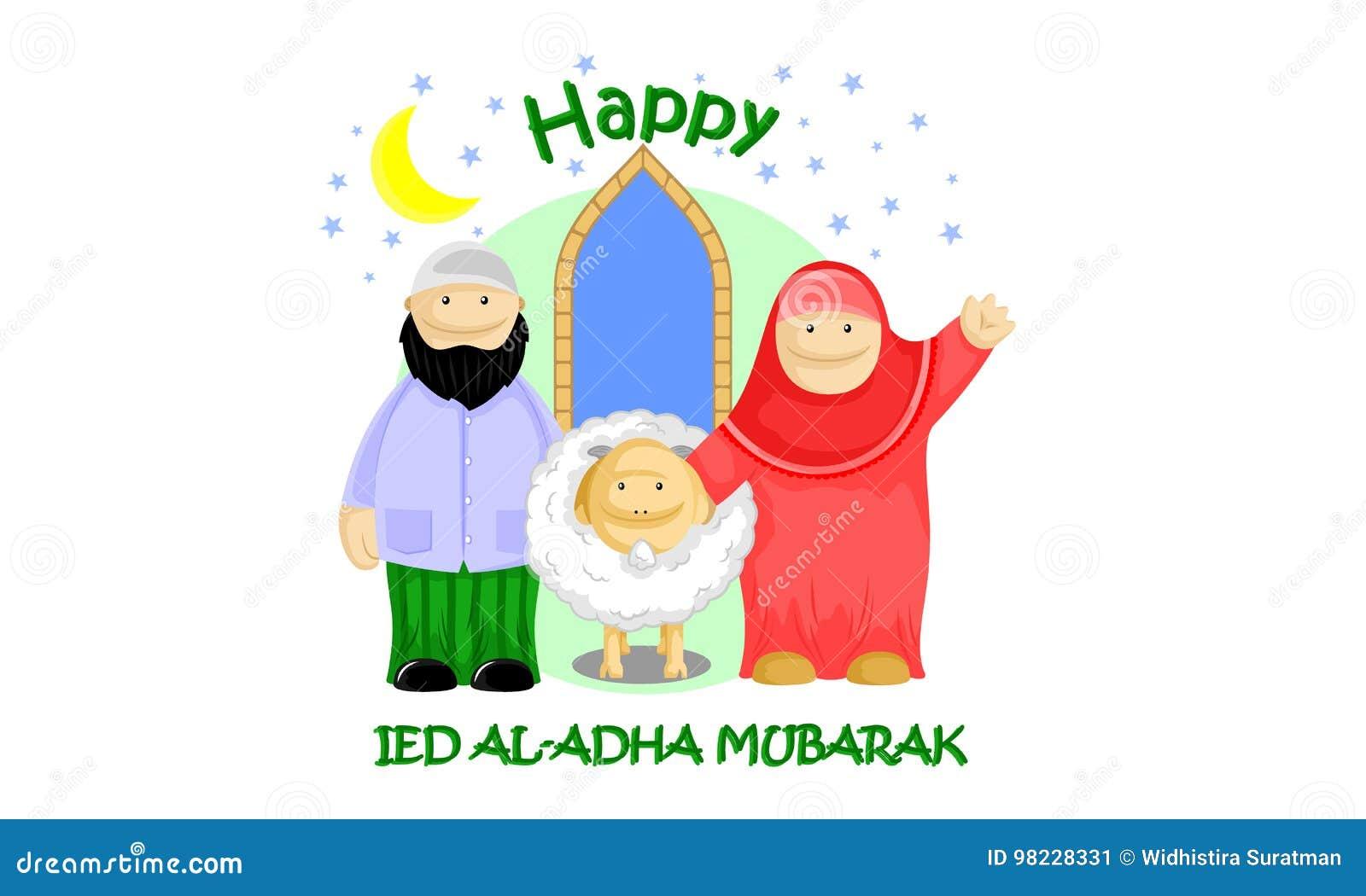Muslim Holidays Happy Ied Al Adha Illustration 98228331 Megapixl