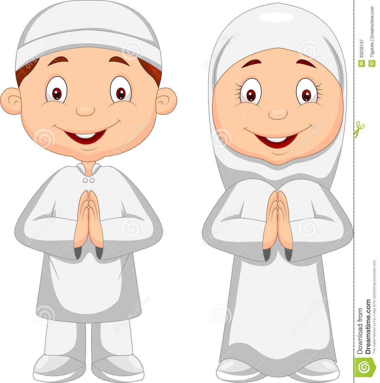 Muslim Kid Cartoon Royalty Free Stock Photography Image 33236137