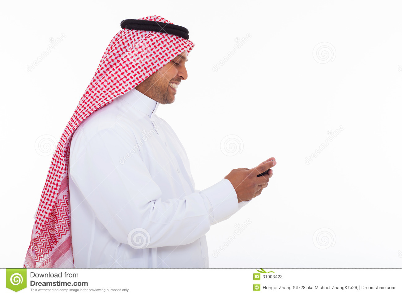 Folded Business Cards >> Muslim Man Cell Phone Stock Photos - Image: 31003423