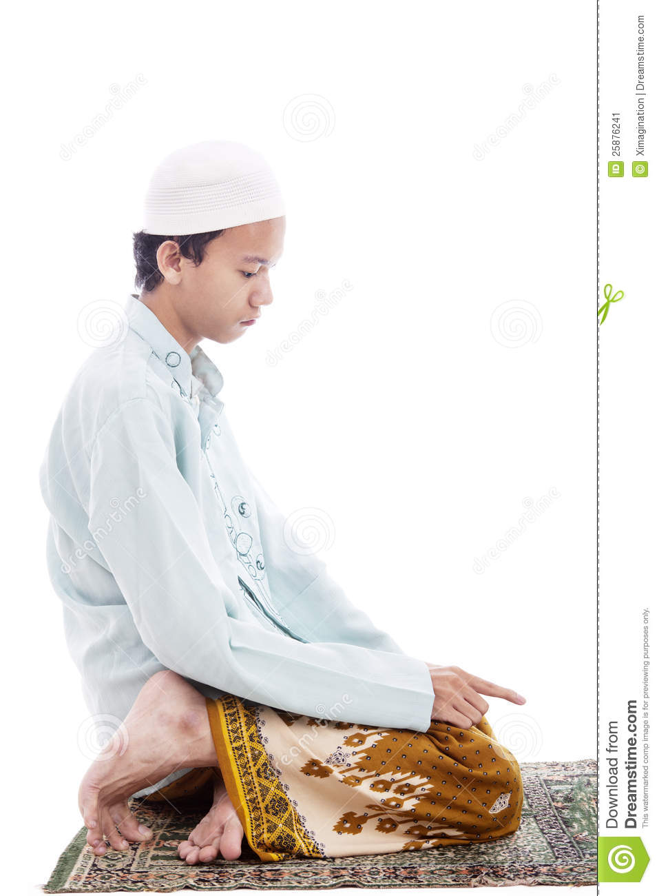 Muslim Man In Praying Poses Stock Image Image Of