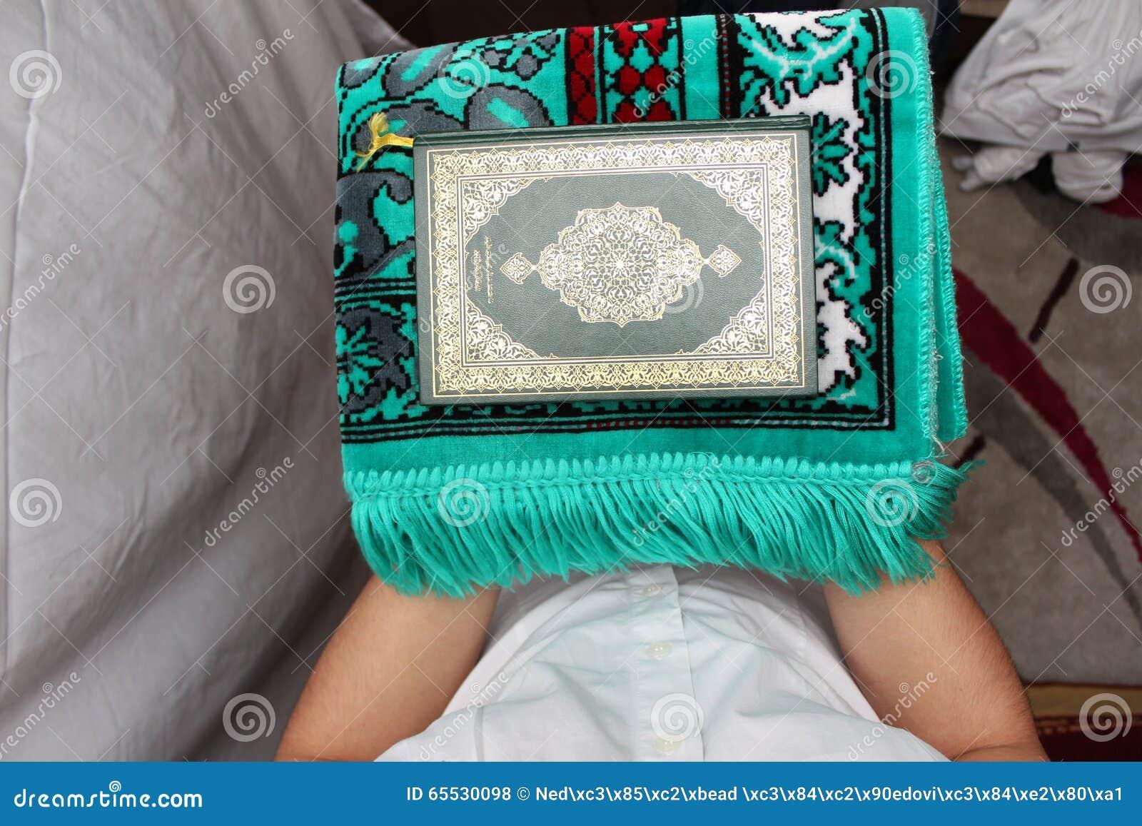 Muslim men Reading Holy Islamic Book Koran