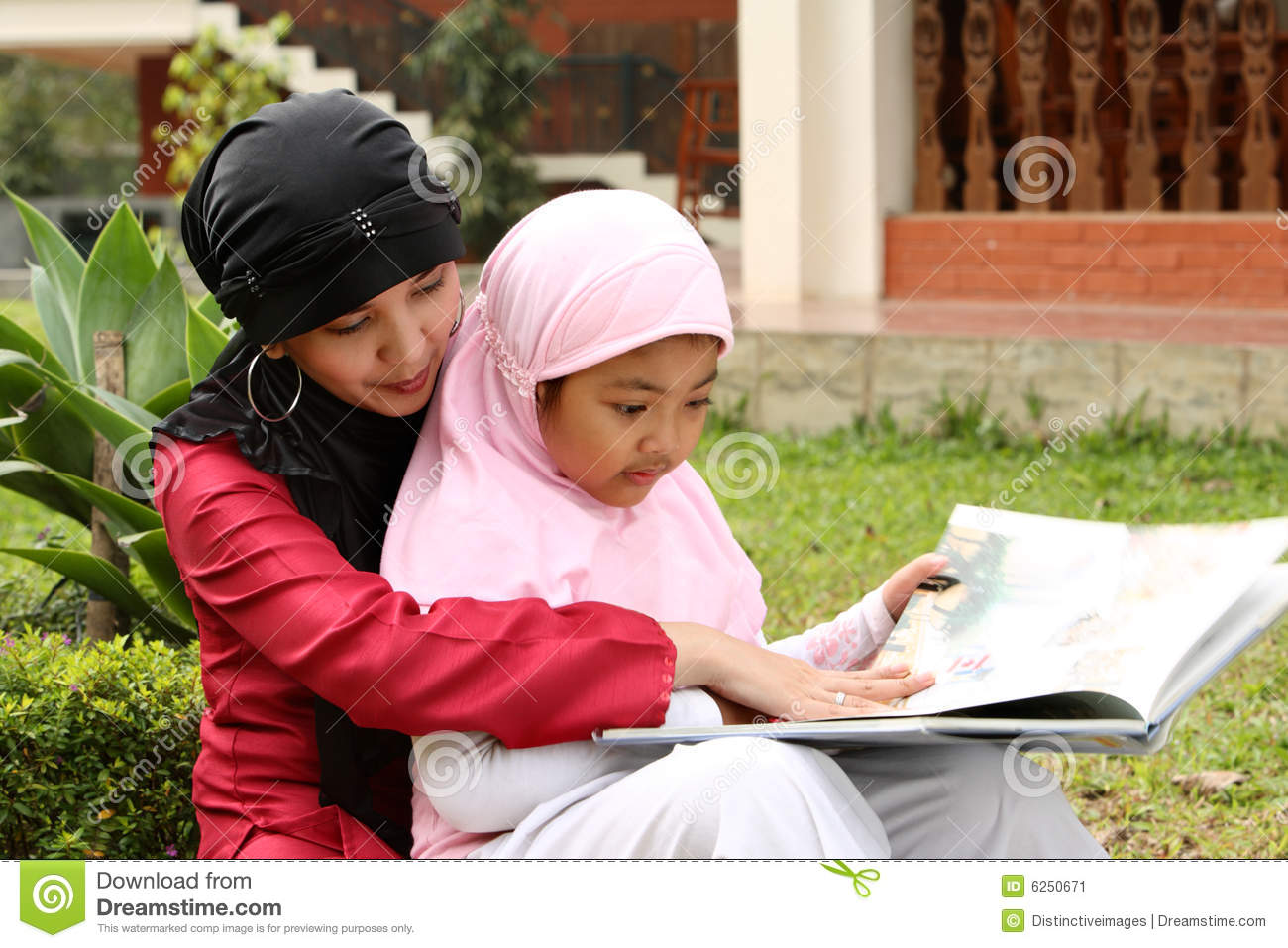 image Muslim mother and pretty arab desperate