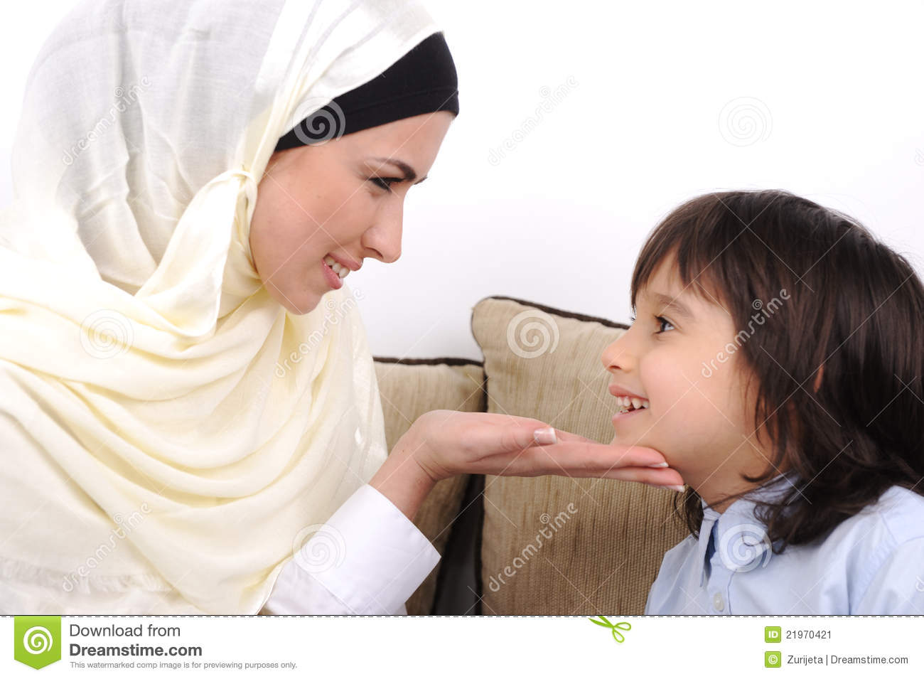 muslim mother and her son stock image image of expression 21970421. Black Bedroom Furniture Sets. Home Design Ideas