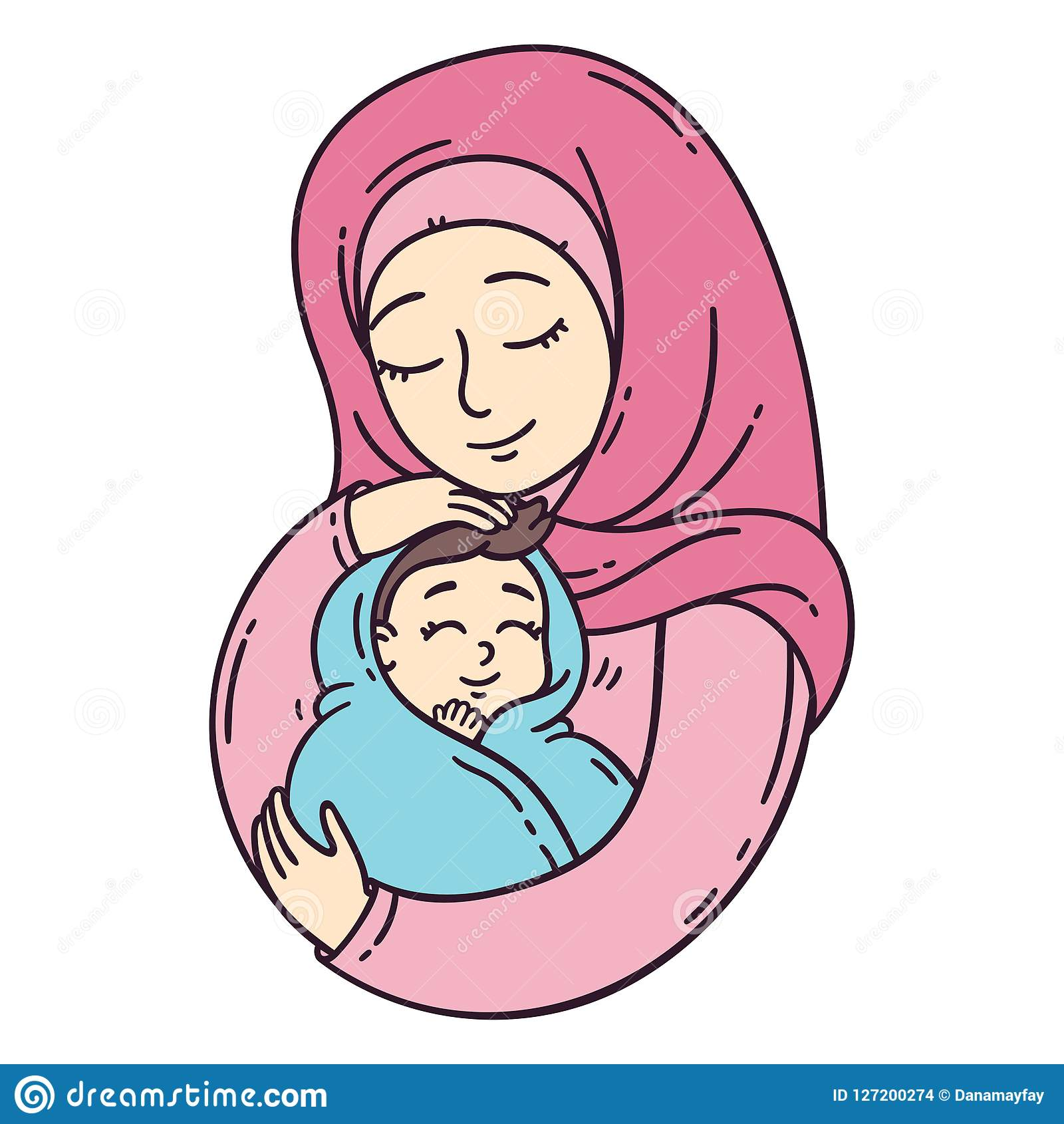 Muslim Mother Baby Stock Illustrations 440 Muslim Mother Baby Stock Illustrations Vectors Clipart Dreamstime