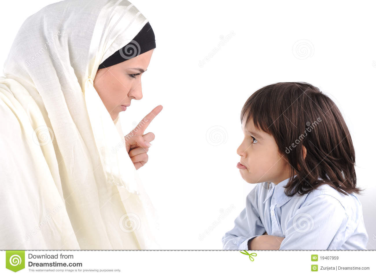 Muslim Mother Threating Her Son Royalty Free Stock Images ...