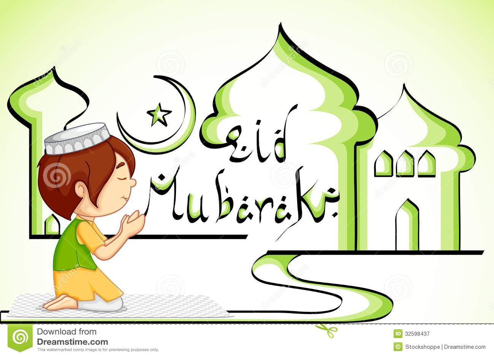 Muslim Offering Namaaz For Eid Royalty Free Stock ...