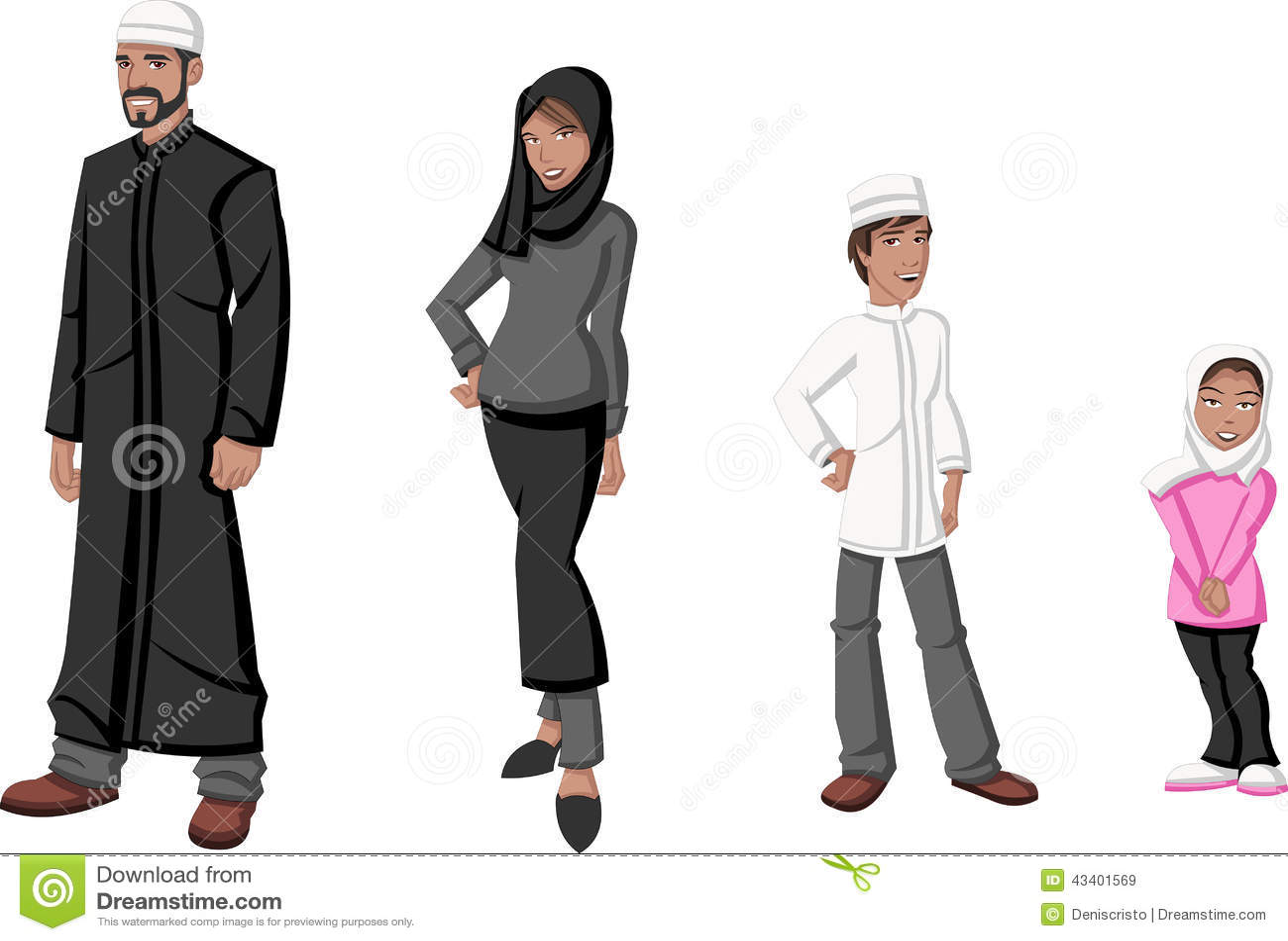 Muslim People. Stock V...