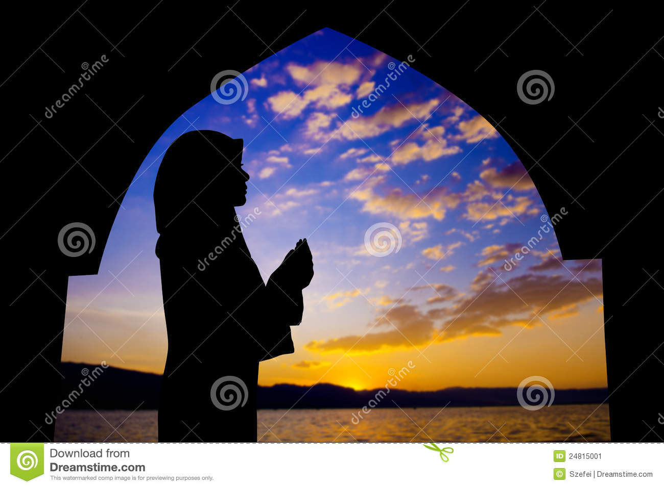 Muslim praying in mosque stock image. Image of eastern ...