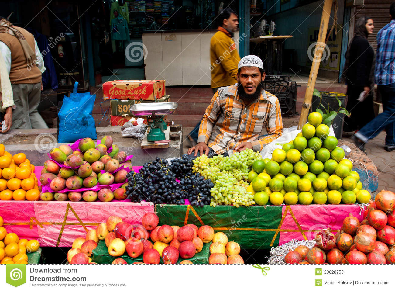Street trader sell vegetables editorial photo for City indian dining ltd t a spice trader