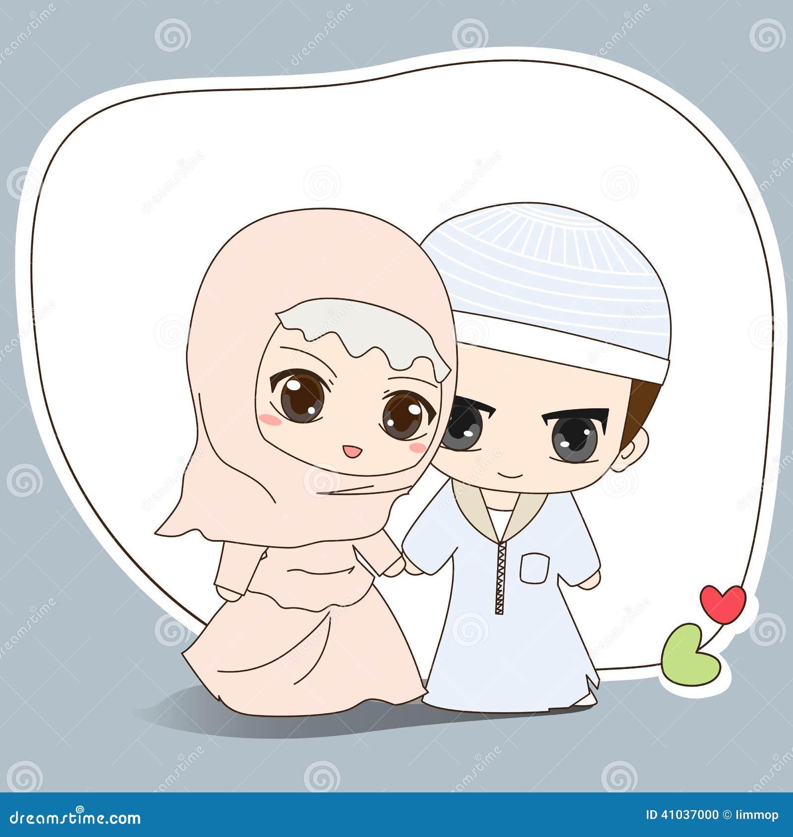 Muslim Wedding Dress Stock Vector - Image: 41037000 X 23 Costume