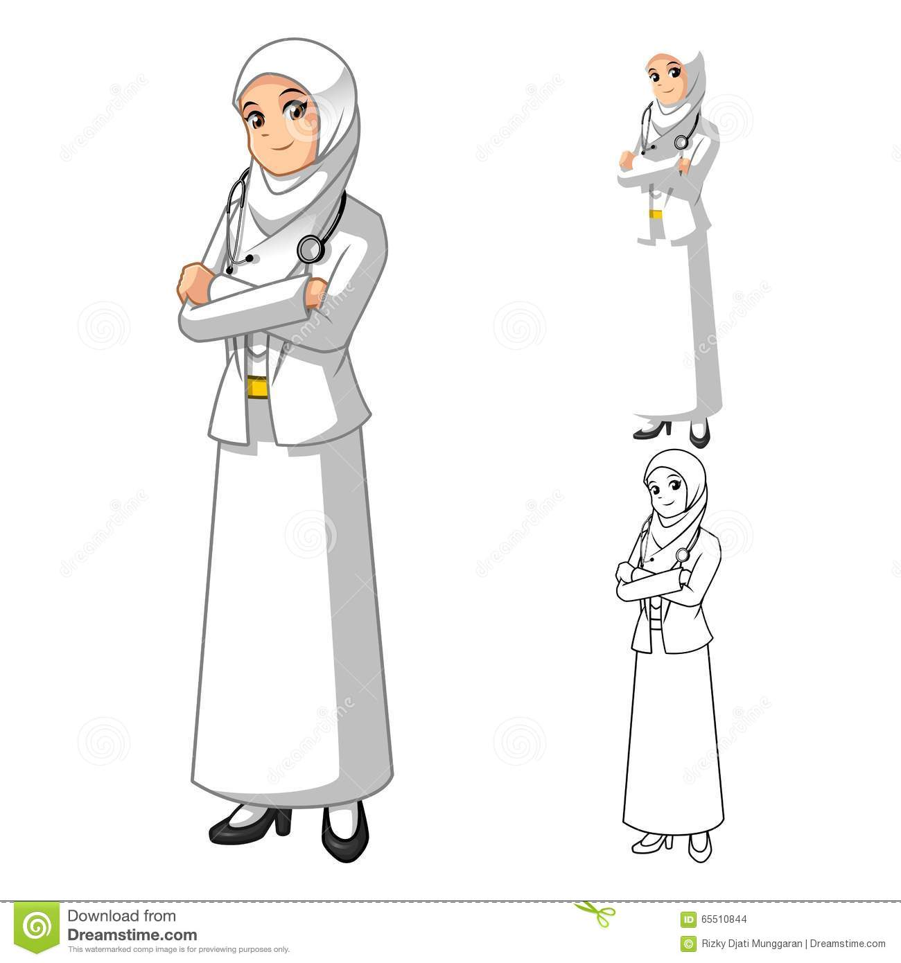 muslim woman doctor wearing white veil or scarf with eye doctor clipart free printable eye clinic clipart