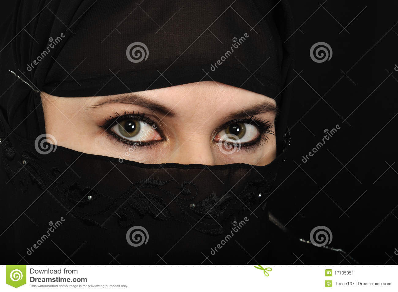 Kashmiri Eyes Muslim Woman Eyes Edit...