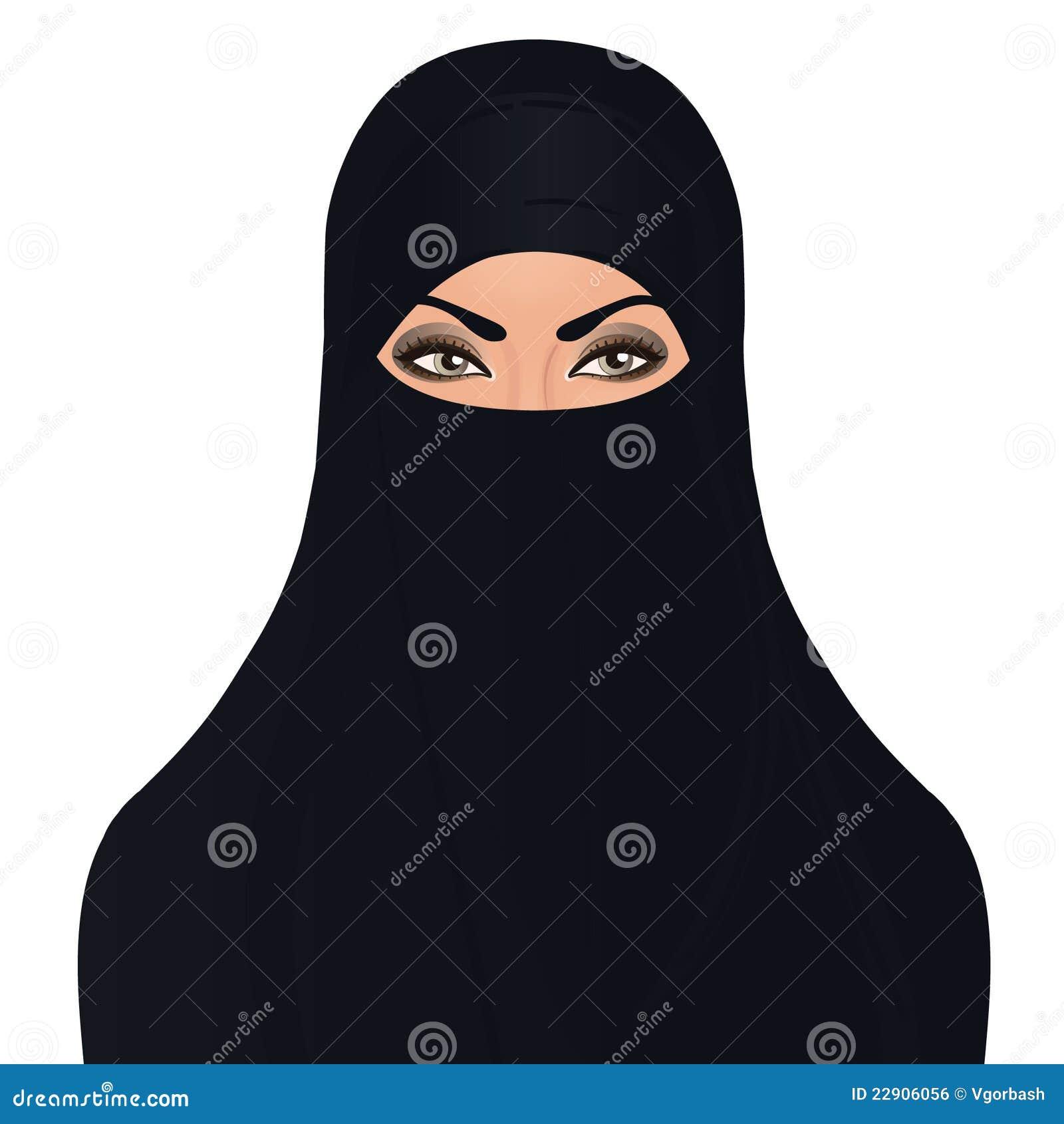 Рисунок в хиджабе девушка