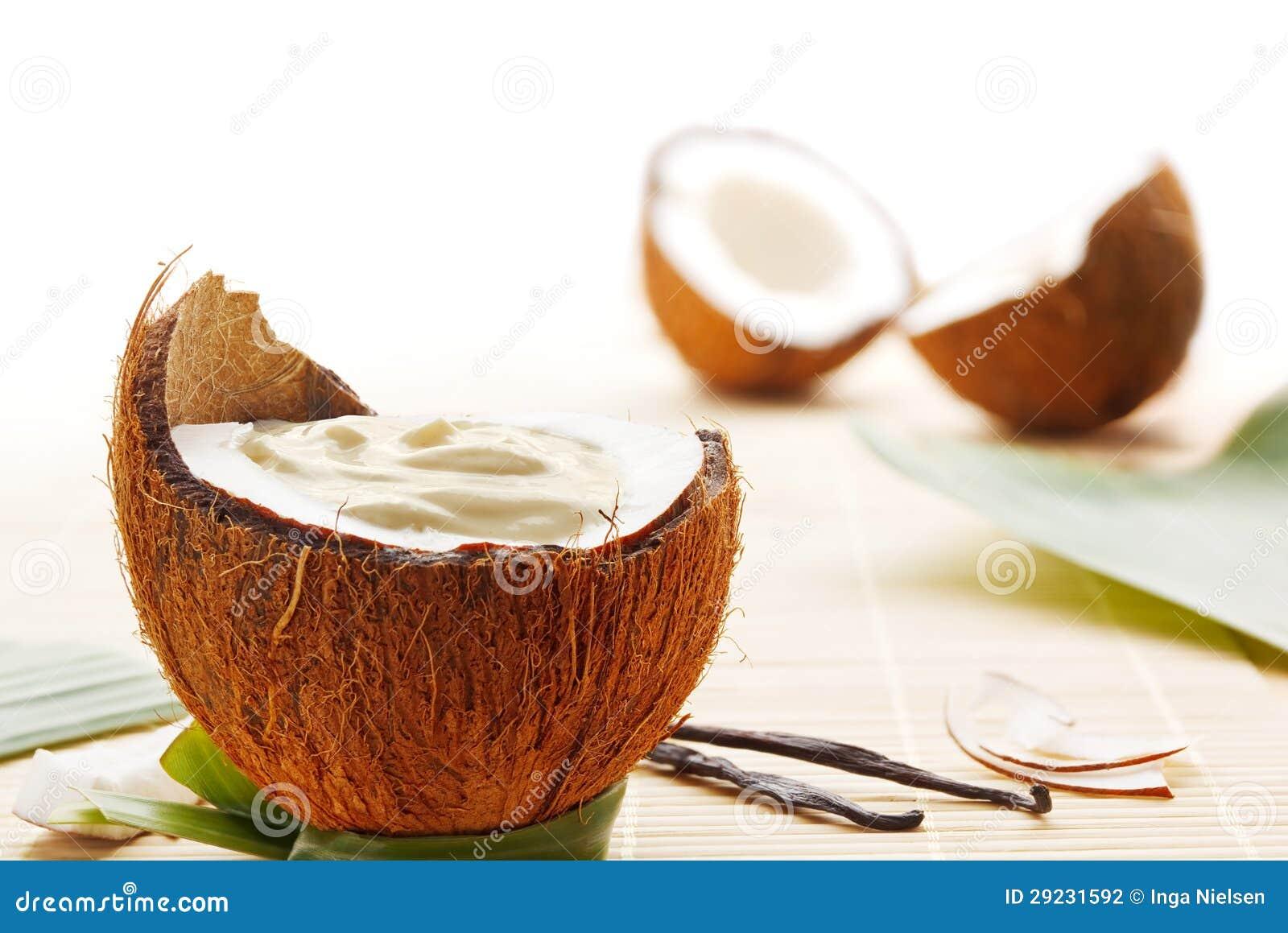 Download Musse do coco foto de stock. Imagem de dessert, ninguém - 29231592