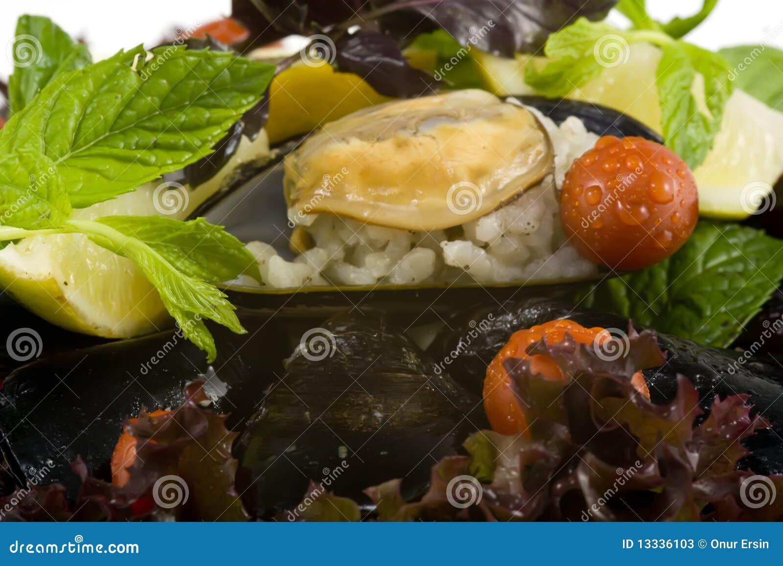 Mussel makro- talerz