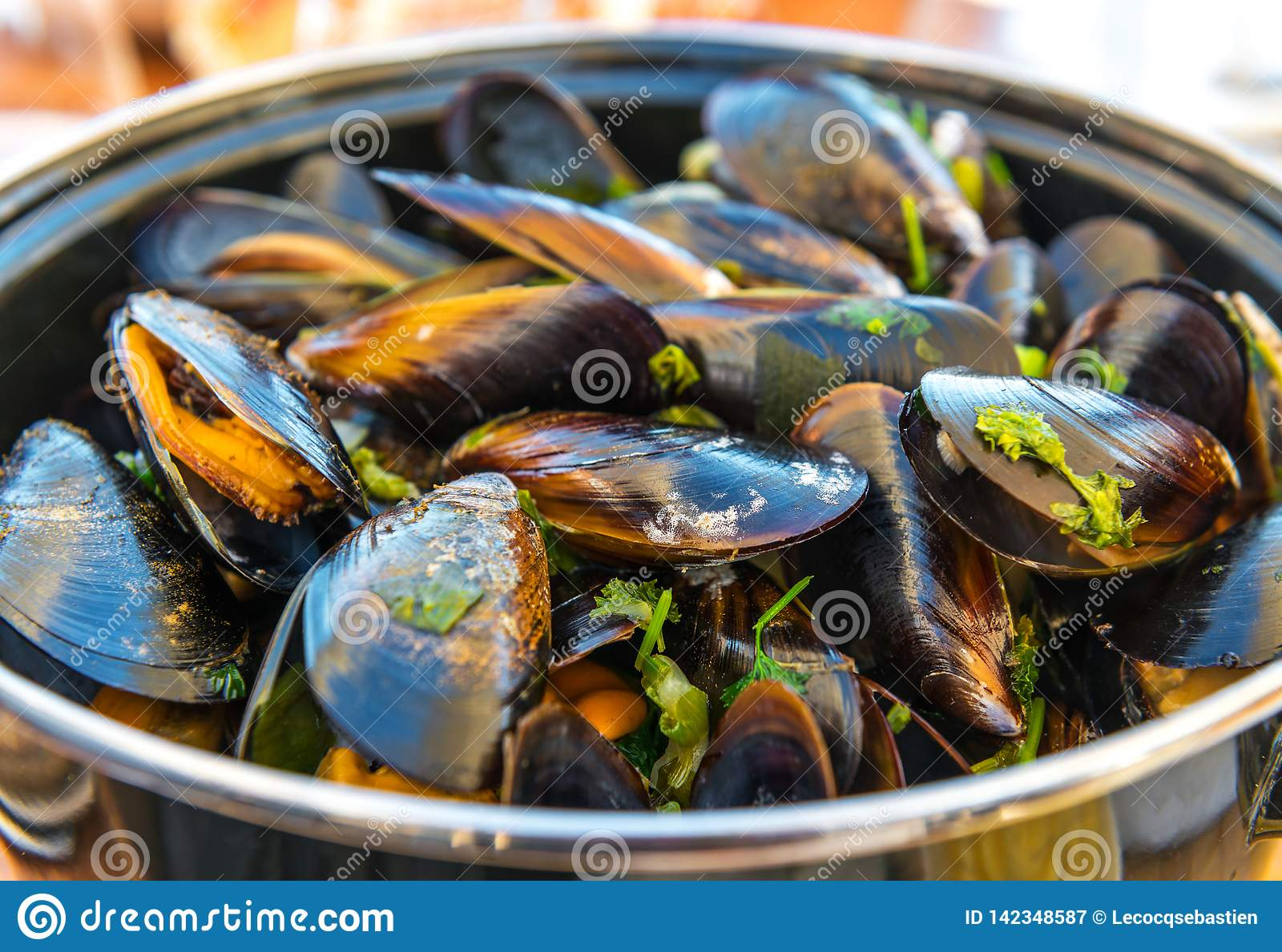Mussels with Fries in Ostend, Belgium