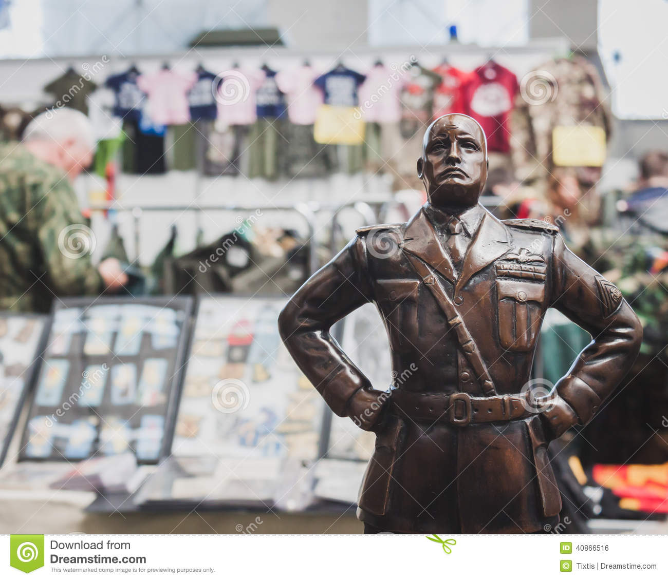 Exhibition Booth Vector Free Download : Mussolini s statue at militalia in milan italy editorial