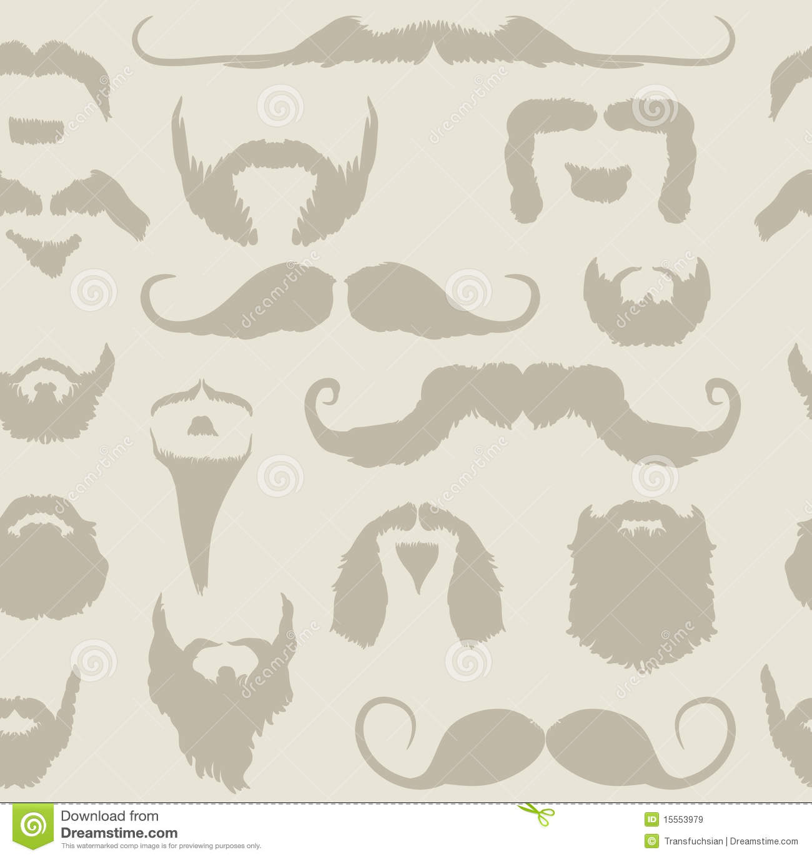 Mustache And Beard Set Seamless Pattern Royalty Free Stock