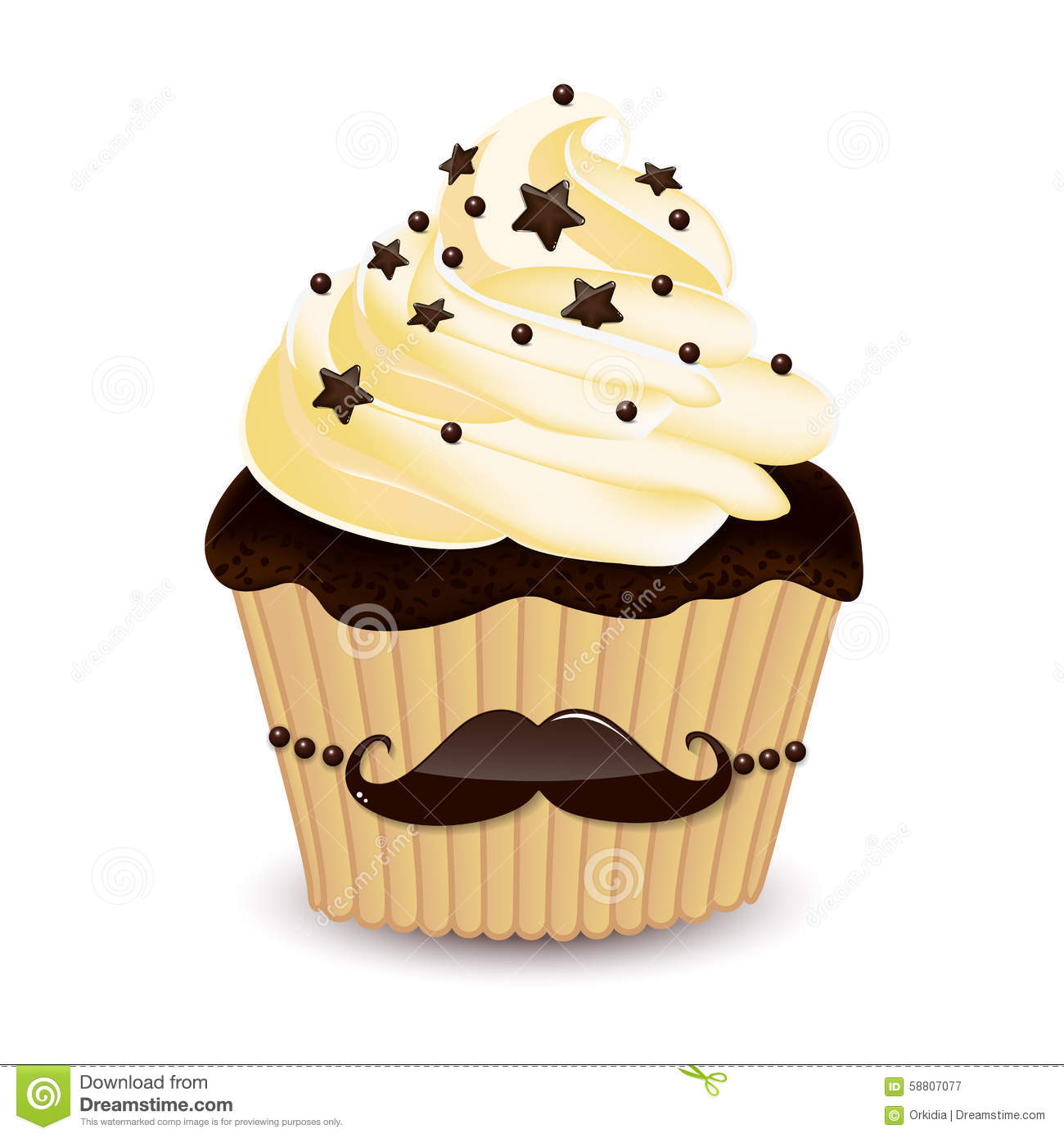mustache cupcake stock vector image 58807077 cupcake clipart free download cupcake clipart