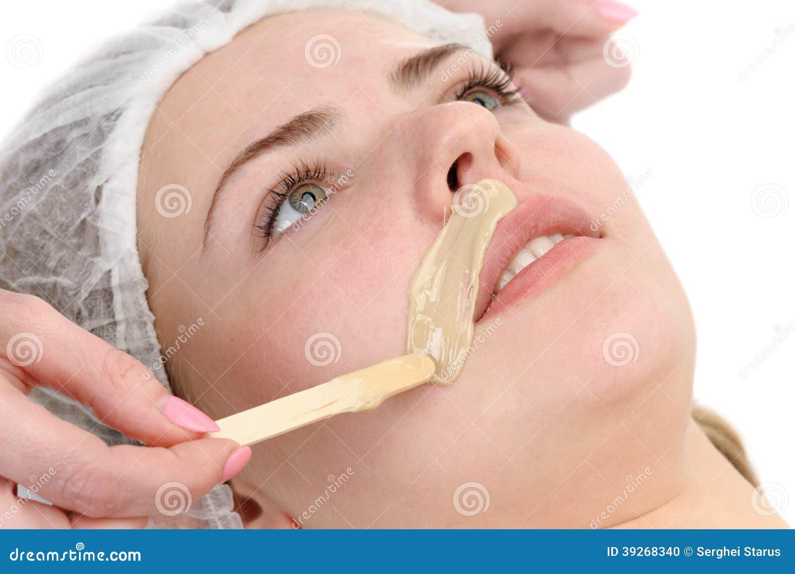 Beauty salon, mustache depilation, facial skin treatment and care ...