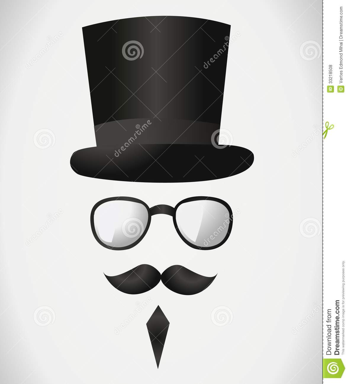 Tall hat with mustache Icons | Free Download
