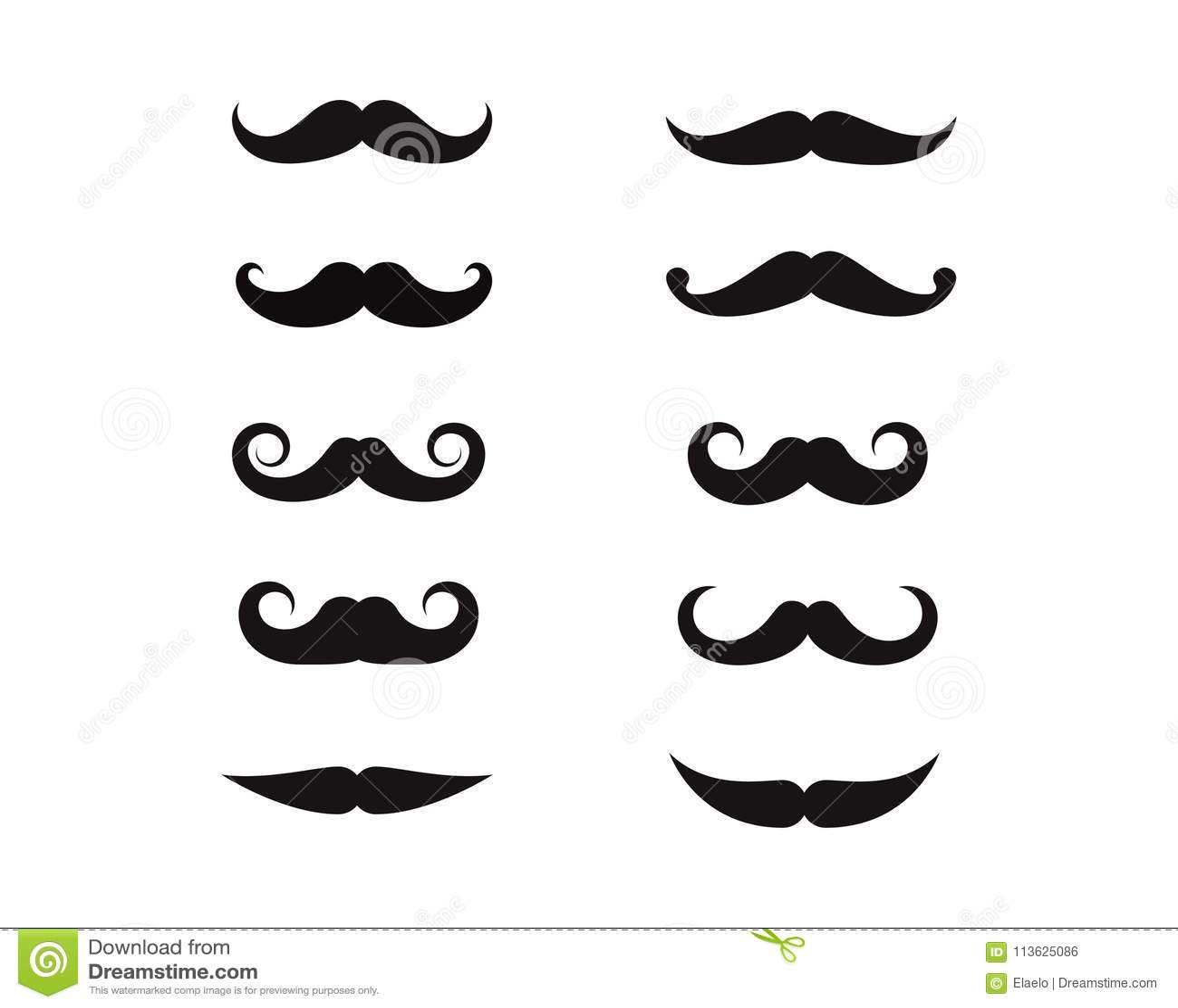 mustache icon logo template stock vector illustration of mask