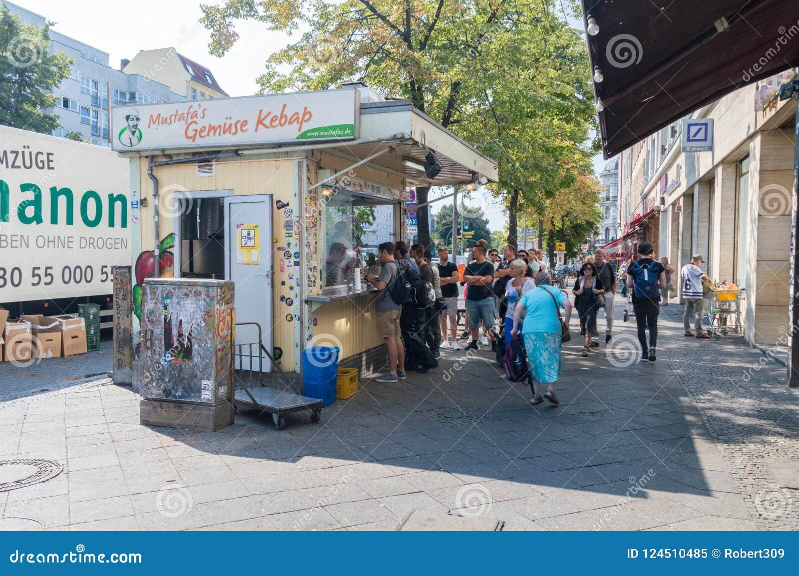 Mustafa ` s Gemuse Kebap En av den populäraste kebaben i Berlin