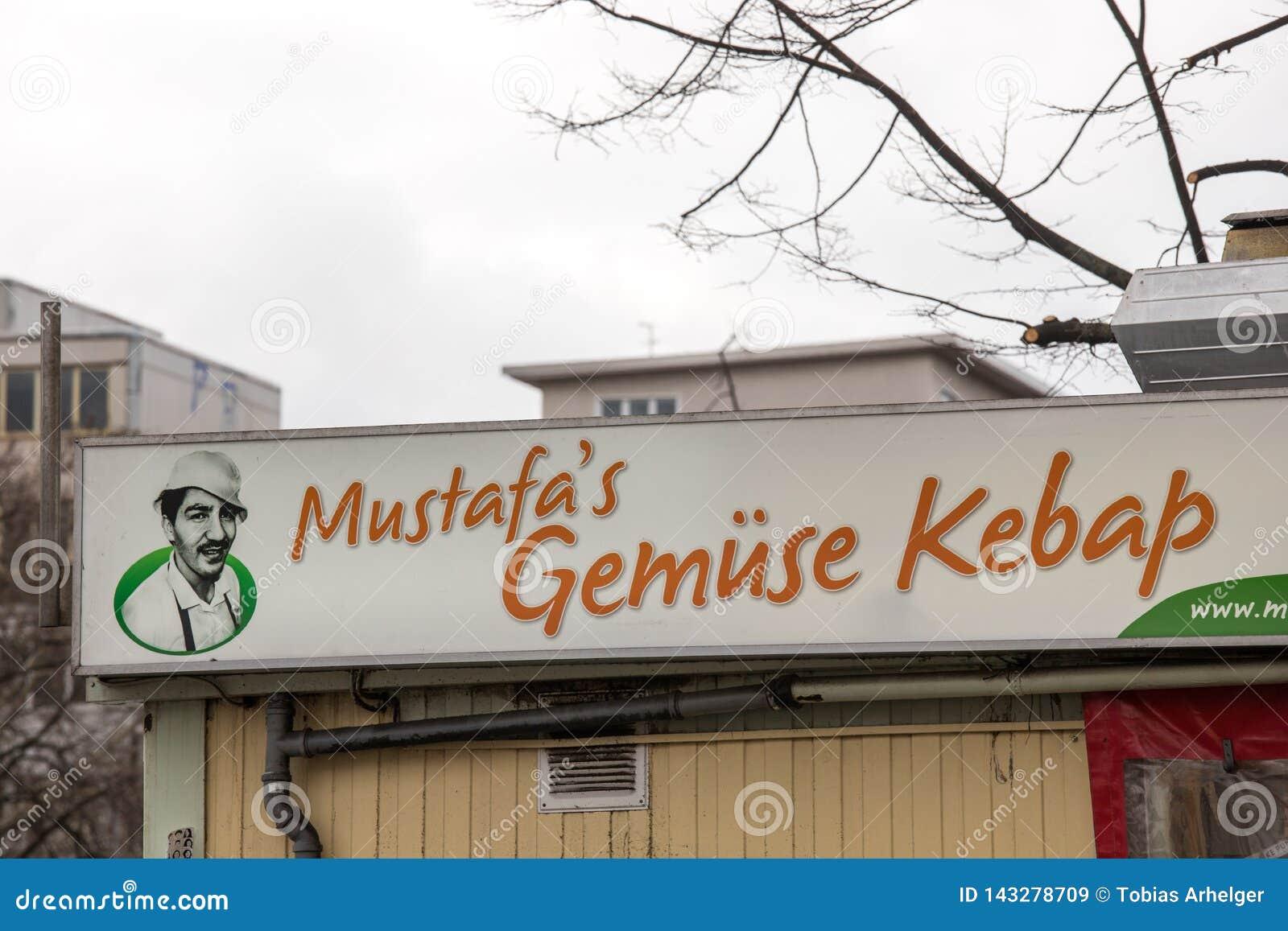 Mustafas-gemà ¼ Se-Kebab unterzeichnen herein Berlin Deutschland