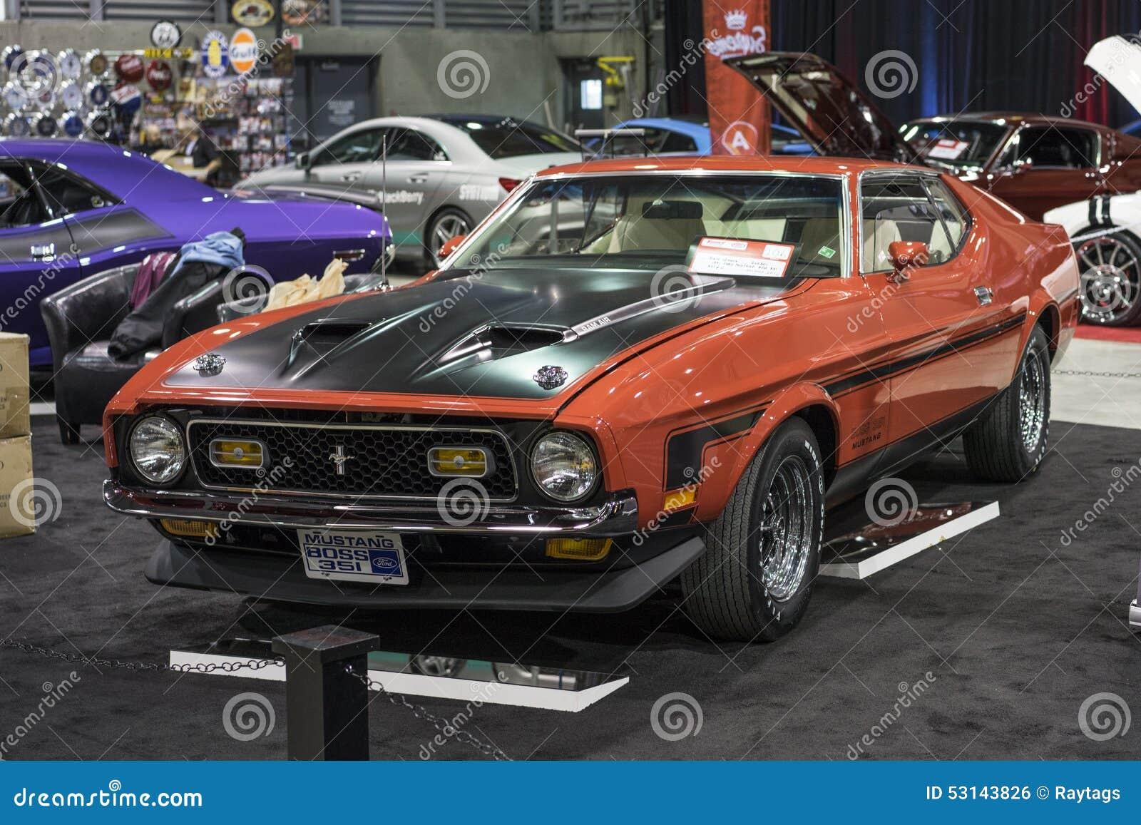 1971 Mustang Boss 351 Editorial Photo Image 53143826
