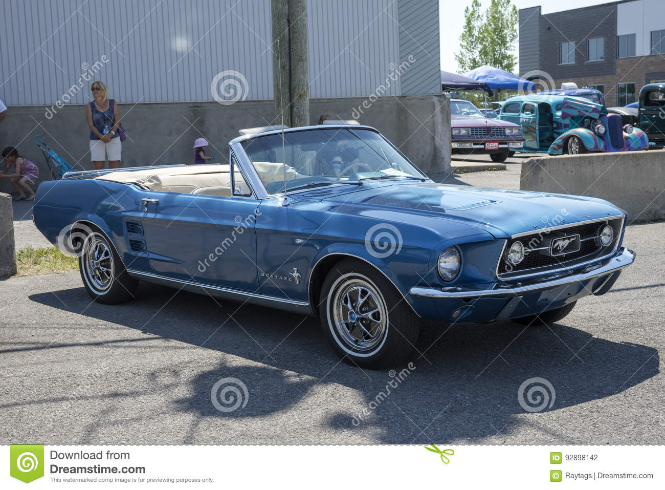 1967 mustang convertible editorial photography  Image of paint