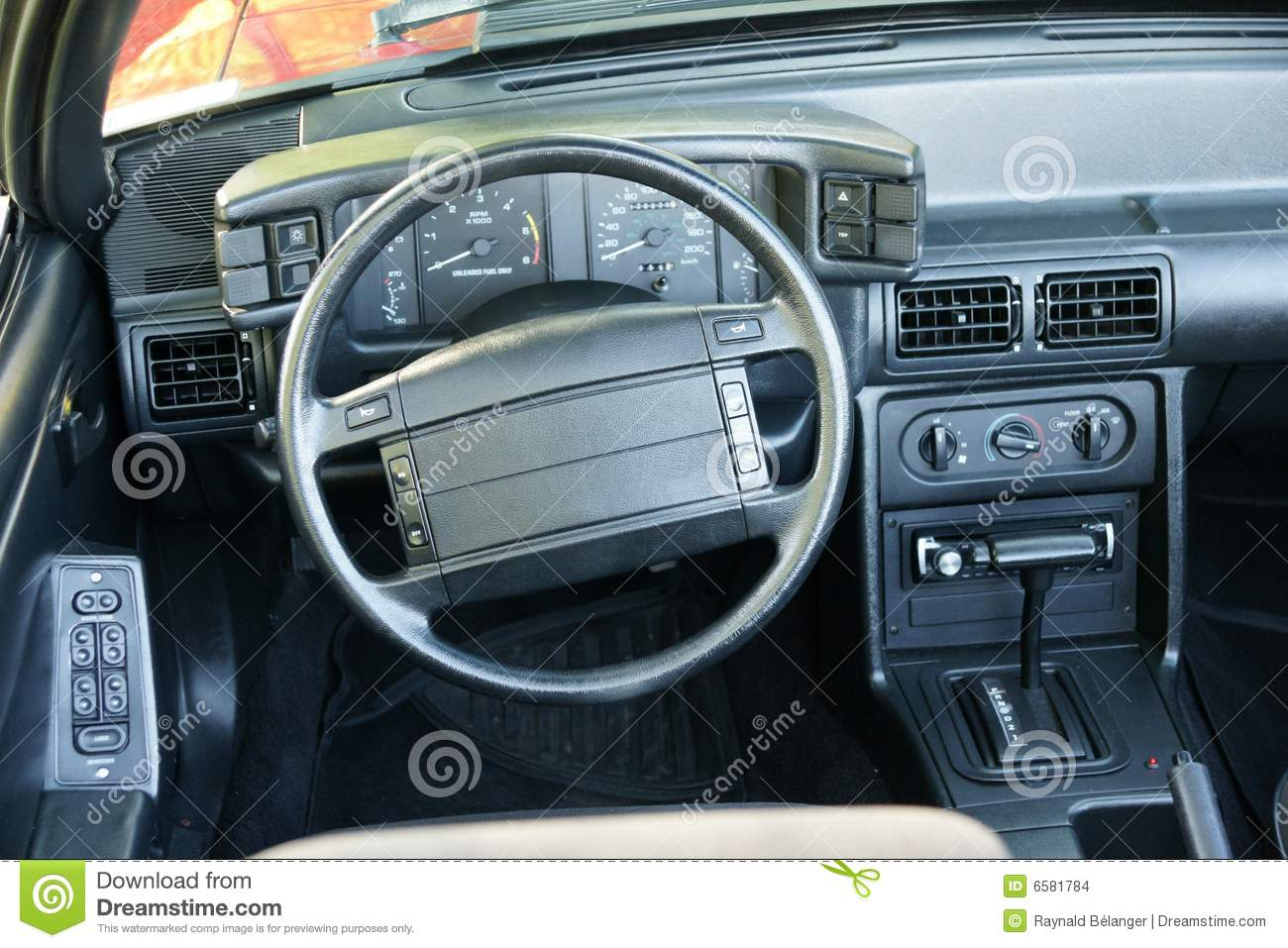 Mustang Dashboard Stock Photo Image Of Compteur 1991