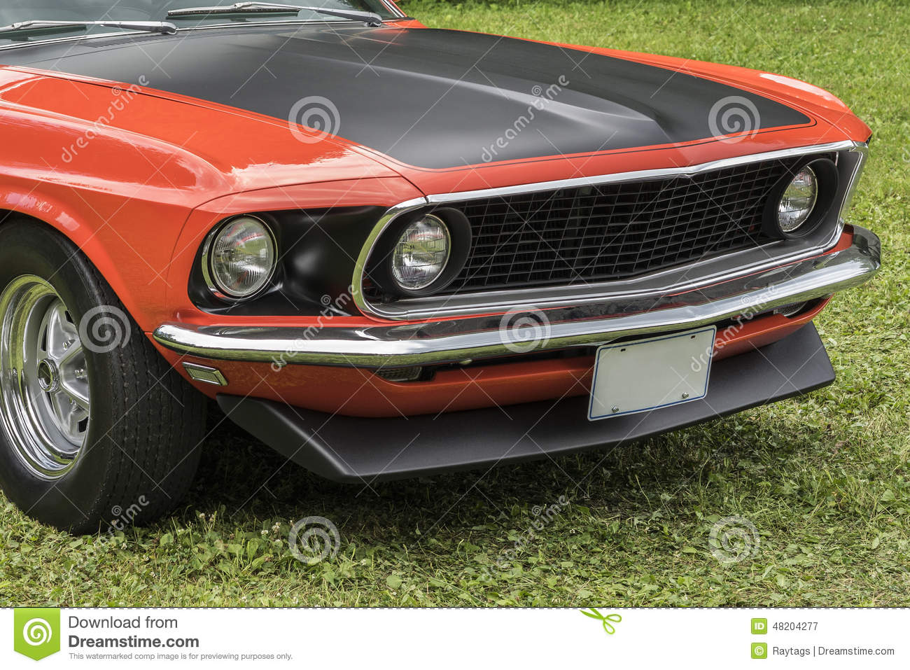 mustang front end stock image. image of front, collage - 48204277
