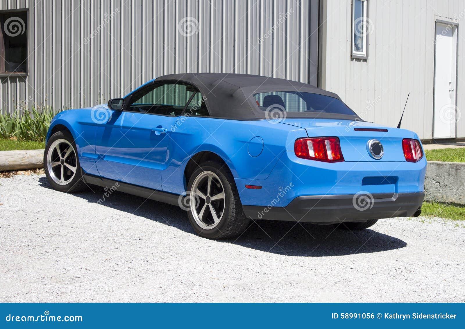2014 mustang grabber blue convertible stock photo image 58991056. Black Bedroom Furniture Sets. Home Design Ideas