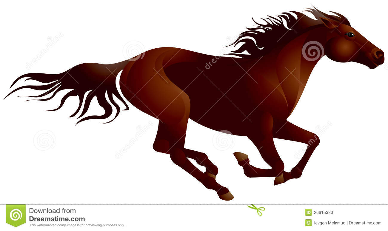 Horse running clipart - photo#28