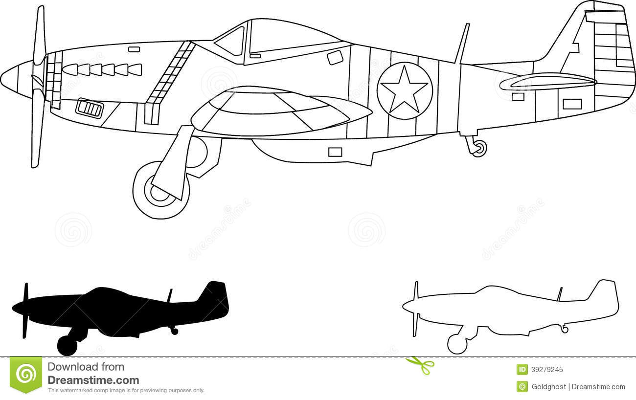 Mustang P51 Stock Vector Illustration Of Mustang Curtiss