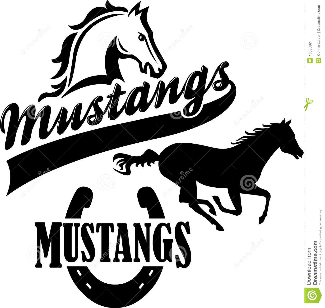 Mustang Team Mascot Eps Stock Image Image 16086881