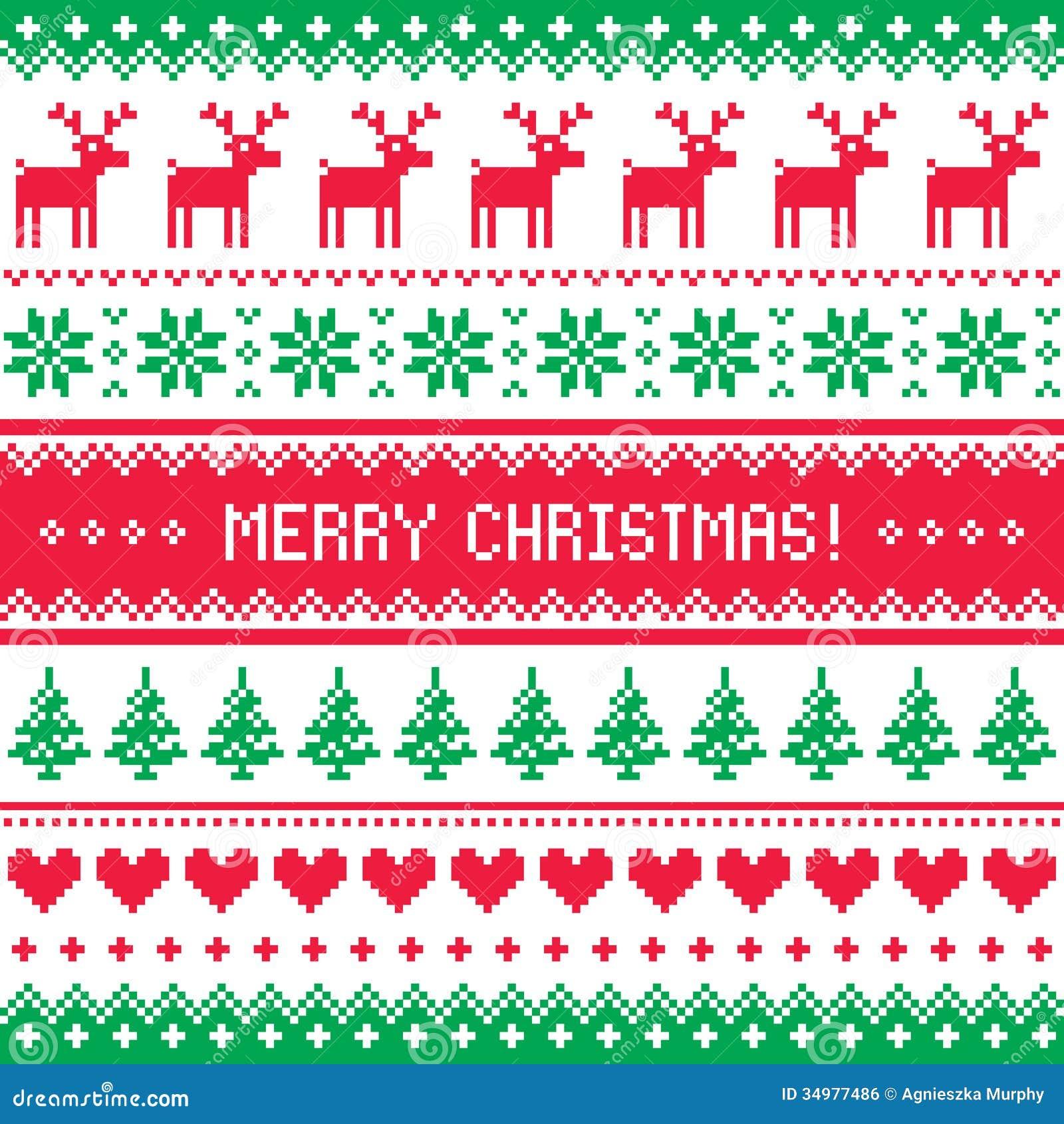 muster der frohen weihnachten mit rotwild scandynavian strickjackenart lizenzfreies stockbild. Black Bedroom Furniture Sets. Home Design Ideas