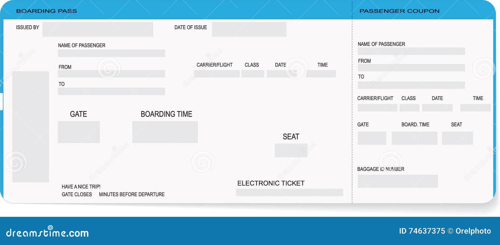 Gemütlich Kostenlose Bordkarte Vorlage Bilder - Entry Level Resume ...