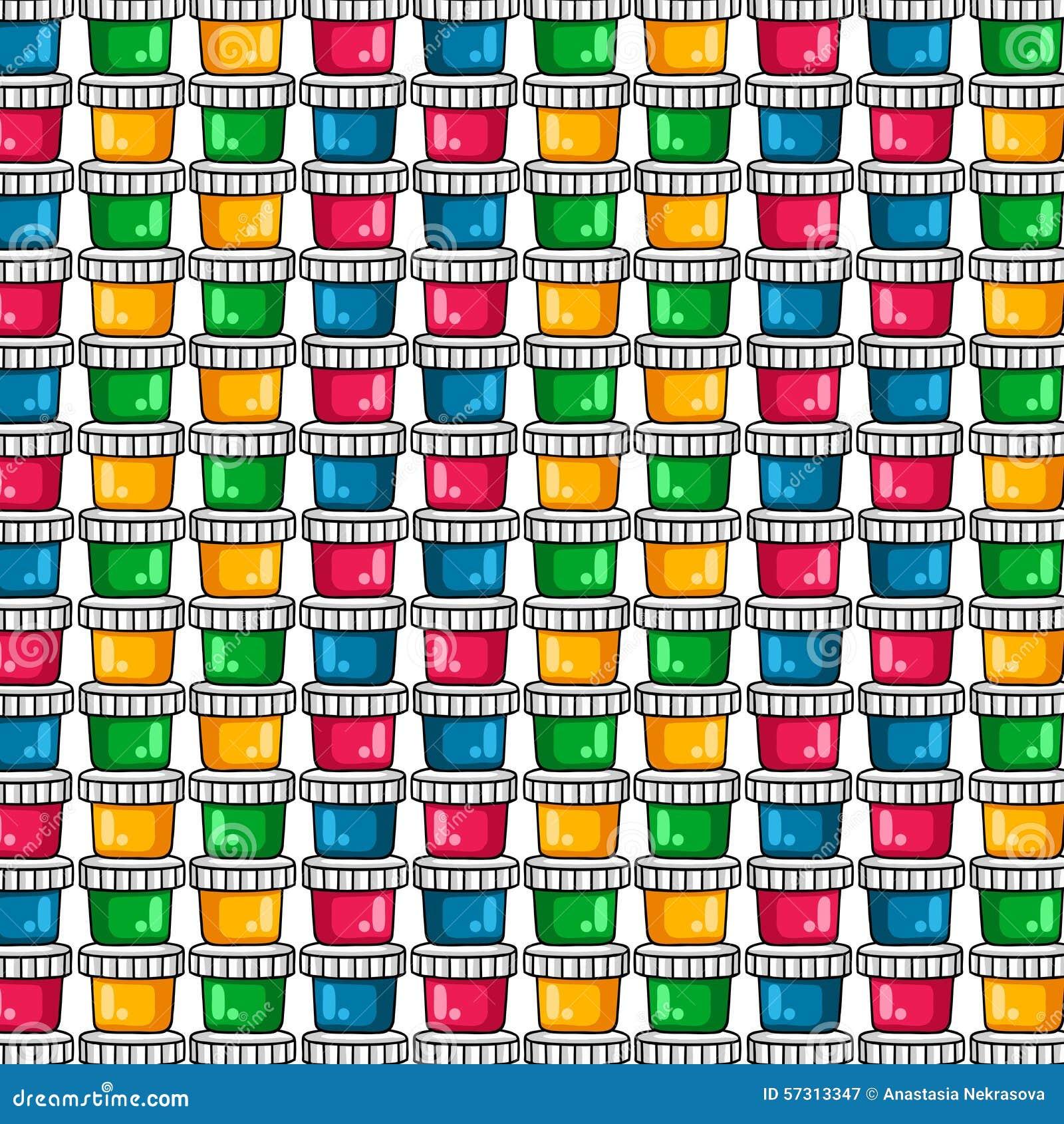 muster farben f r das zeichnen ein satz farbige farben auf einem wei en hintergrund vektor. Black Bedroom Furniture Sets. Home Design Ideas